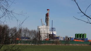 Test site for fracking at Barton Moss, Manchester