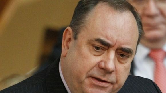 Scotland's First Minister Alex Salmond giving evidence at the Leveson Inquiry.