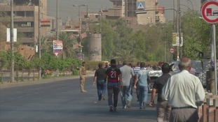 Roads were closed in Baghdad by security forces.