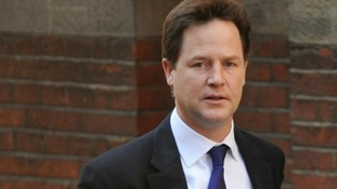 Deputy Prime Minister Nick Clegg has given evidence at the Leveson Inquiry today.