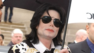 Michael Jackson pictured in 2003