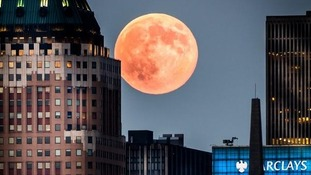 The supermoon in New York
