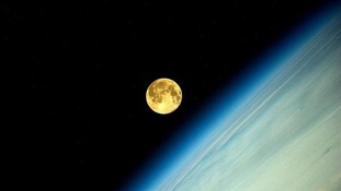 The supermoon from the International Space Station
