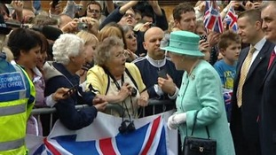 Well-wishers queued from the early hours of this morning to meet Her Majesty