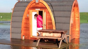 This woman was caught out at Skegness water leisure park after flash flooding