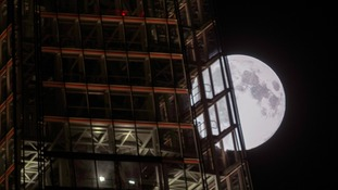The supermoon illuminated London's skies last night.