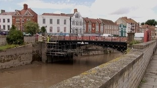Work starts on Bridgwater's town bridge