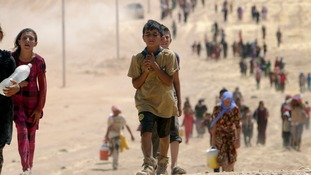The minority Yazidi sect are fleeing Islamic States militants.