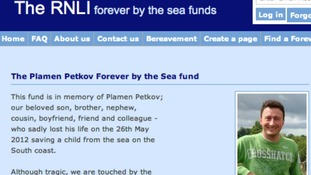RNLI website screengrab