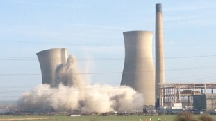 Richborough Cooling Towers Demolished