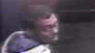 CCTV image of a man 'with hamster-like cheeks'
