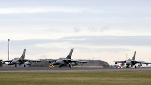 Three RAF Tornado jets, similar to those expected to leave for Cyprus shortly