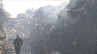 Averies Recycling Centre fire