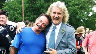 Robin Williams with his close friend Billy Connolly in Scotland in 2000.