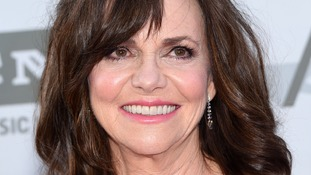 Actress Sally Field, who co-starred with Robin Williams in the hit film Mrs Doubtfire.