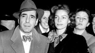 Hollywood stars, husband and wife, Humphrey Bogart and Lauren Bacall