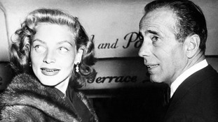 Hollywood film stars Humphrey Bogart and Lauren Bacall