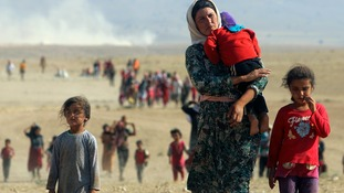 Displaced Yazidis are being targeted by Islamic State militants.