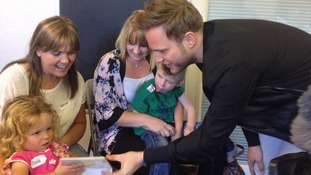 Olly Murs visits the Brainwave children's centre in Witham.