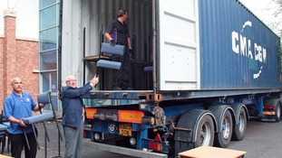 Furniture being sent to schools in Pakistan