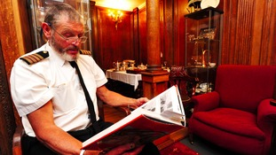 Titanic enthusiast John Siggins has created a replica dining room in his shed