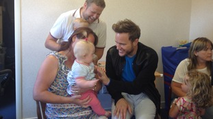 Olly Murs at the Brainwave children's centre in Whitham.
