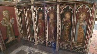 The rood screen at Ranworth.
