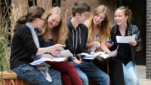 Pupils receive results