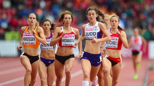 Jessica Judd in the 800m heats at the European Championships in Zurich.