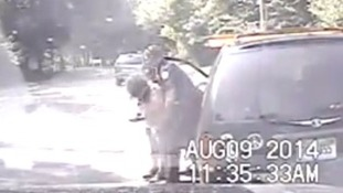 The officer performed the Heimlich manoeuvre three times on the choking woman