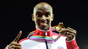 Mo Farah won gold in the men's 10,000 metres