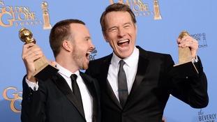 Aaron Paul and Bryan Cranston, stars of Breaking Bad.