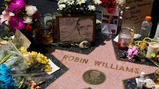 Tribute to Robin Williams on his Walk of Fame Star.