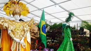 Brazilian display at The Southport Flower Show.