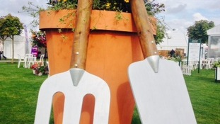 Oversized gardening equipment