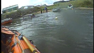 The rescues took place amid some of the highest tides of the year