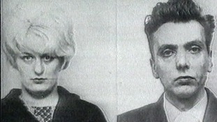 Myra Hindley and Ian Brady police mugshots.