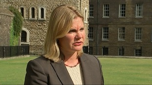 Justine Greening said the UK would be helping displaced people moving to camps.