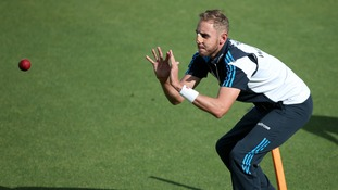 Stuart Broad training ahead of the 5th Test against India