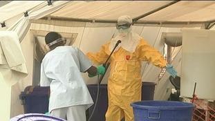 Ebola aid worker