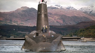 Royal Navy's Trident-class nuclear submarine.
