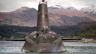 Royal Navy's Trident-class nuclear submarine.