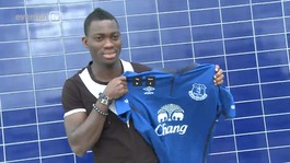 Christian Atsu welcomed to Everton