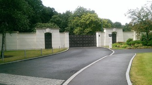 The driveway leading to the estate in Sunningdale, Berkshire, which houses Sir Cliff Richard's apartment.