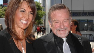 Williams with wife Susan in 2010.