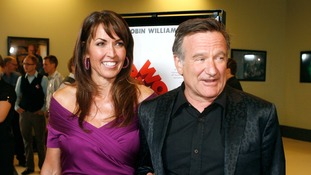 Susan Schneider with her late husband Robin Williams.