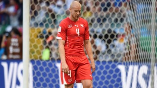 Switzerland's Philippe Senderos during the World Cup