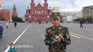 A Russian official takes a stab at the cube.