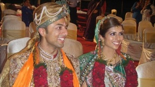 Shrien and Anni Dewani at their wedding.