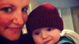 Angel Hudson and her son Arthur.